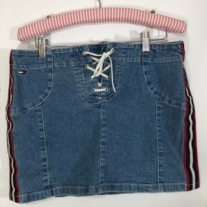 Retro 90's Tommy Hilfiger Sporty LaceUp Skirt 7